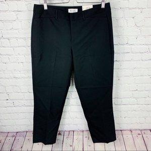ELLE   Black Mid Rise Skinny Ankle Dress Pants